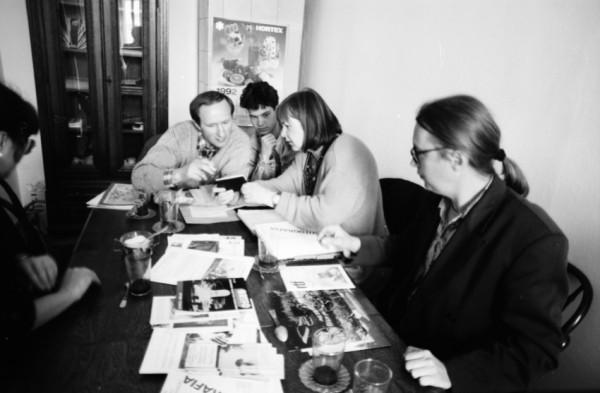 Spotkanie z autorem wystawy Vasilem Titovem oraz grupą fotografików z Bielefeldu 2 grudzień 1991 r