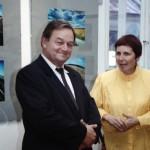 11_Paweł Pierściński autor wystawy oraz Irena Gałuszka 9 czerwiec 1993 r