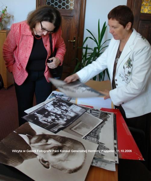 Wizyta Pani Herminy Poppeler Konsula Generalnego Austrii październik 2006