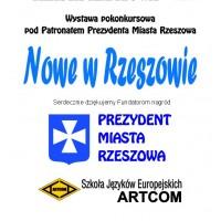 plansza wystawy Nowe w Rzeszowie