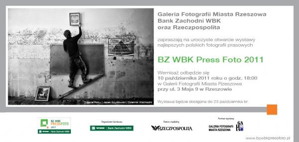 Zaproszenie na wernisaż BZ WBK Press Foto 2011