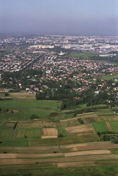 Widok na Rzeszów od strony Słociny, fot. Irena Gałuszka.