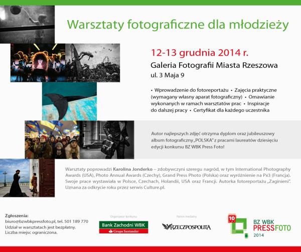 Warsztaty fotograficzne BZ WBK Press Foto 2014