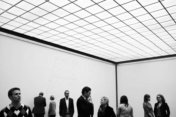 Besucher in der Kunsthalle Bielefeld, 2013
